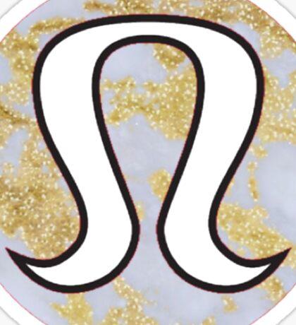 Marble Lululemon  Sticker