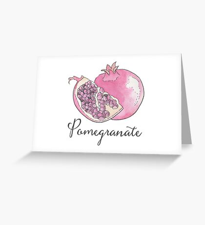 Pomegranate Watercolor Fruit Greeting Card