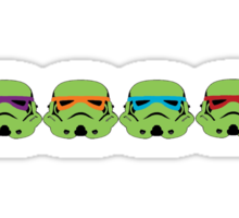 TEENAGE MUTANT NINJA TROOPERS (green) Sticker