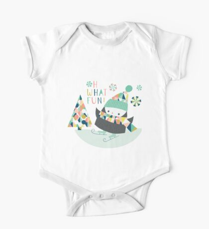 Oh What Fun Penguins One Piece - Short Sleeve