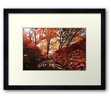 Find Yourself Go Run Autumn Leaves Fall Season Framed Print
