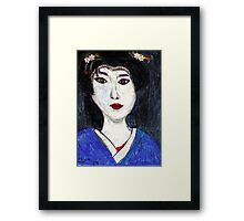 Portrait Of A Geisha Framed Print