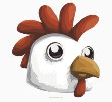 Glitch Masks Trimmed Chicken Mask Kids Tee