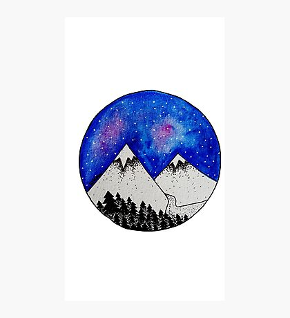 Midnight Circles Photographic Print