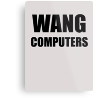 WANG computers Metal Print