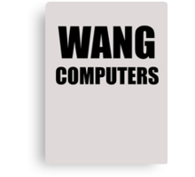 WANG computers Canvas Print