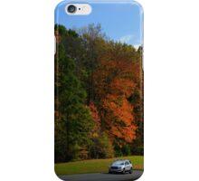 New GMC Arcadia SUV Driving through the fall foliage  on the Natchez Trace Nashville iPhone Case/Skin