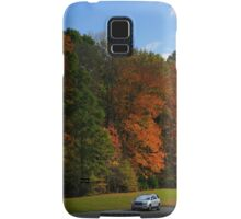 New GMC Arcadia SUV Driving through the fall foliage  on the Natchez Trace Nashville Samsung Galaxy Case/Skin