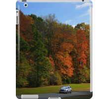 New GMC Arcadia SUV Driving through the fall foliage  on the Natchez Trace Nashville iPad Case/Skin