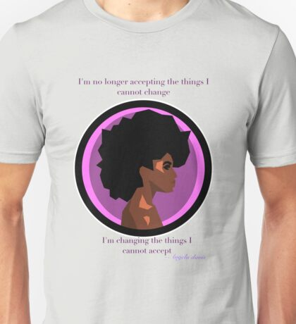Angela Davis Feminist Changing the things I cannot accept Unisex T-Shirt