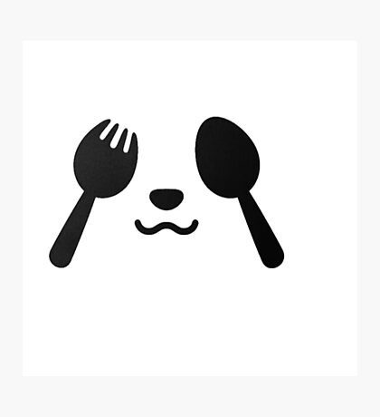 fork and spoon panda eyes Photographic Print