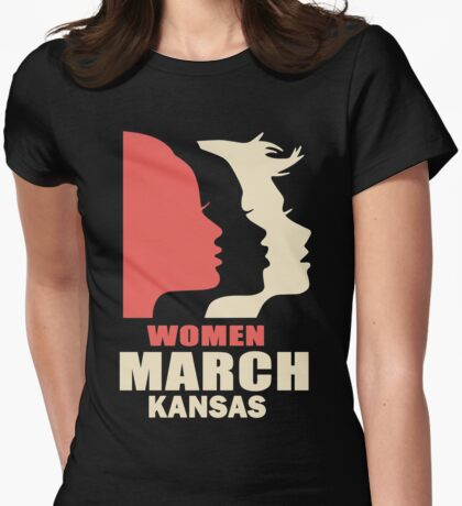 Women's March on kansas Womens Fitted T-Shirt