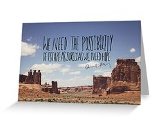 Edward Abbey x Escape Greeting Card