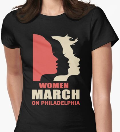 Women's March On Philadelphia Womens Fitted T-Shirt