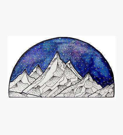 A Mountainous World :^) Photographic Print