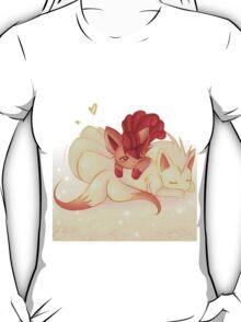 Fire :: Vulpix + Ninetails T-Shirt