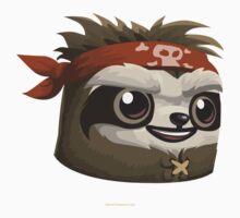 Glitch Masks Trimmed Sloth Mask One Piece - Short Sleeve