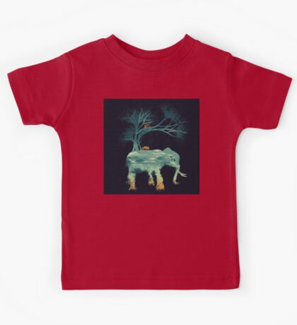 natural forest elepant Kids Tee