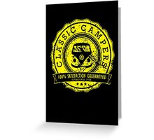 Retro Badge Yellow VW Classic Grunge Greeting Card