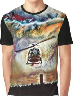 Bell UH-1 Huey in Fantasy Flight Graphic T-Shirt