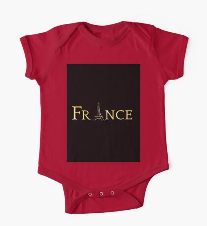 France Eiffel Tower One Piece - Short Sleeve