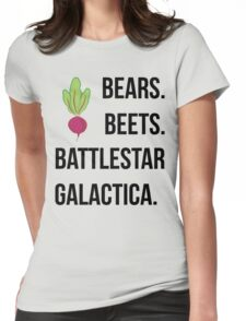 bears beets Womens Fitted T-Shirt