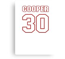 NFL Player Cooper Taylor thirty 30 Canvas Print
