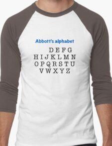 Abbott's alphabet Men's Baseball ¾ T-Shirt