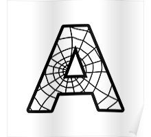 Spiderman A letter Poster