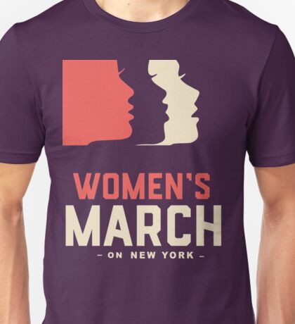 WOMEN MARCH ON NEW YORK Unisex T-Shirt