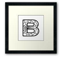 Spiderman B letter Framed Print