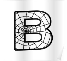 Spiderman B letter Poster