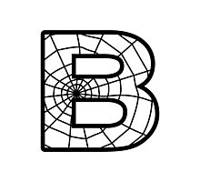 Spiderman B letter Photographic Print