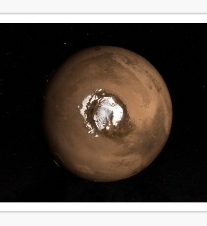 Nadir view of the Martian North Pole. Sticker