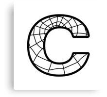 Spiderman C letter Canvas Print