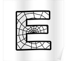 Spiderman E letter Poster