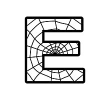 Spiderman E letter Photographic Print