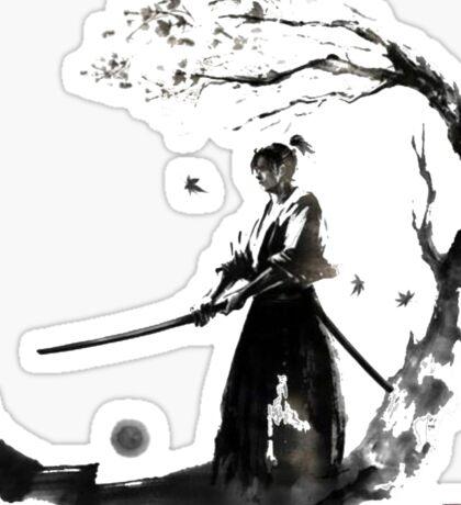 Swordsman in the twilight Sticker