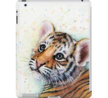 Tiger Cub Watercolor Painting iPad Case/Skin