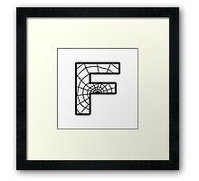 Spiderman F letter Framed Print