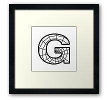 Spiderman G letter Framed Print
