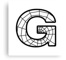 Spiderman G letter Canvas Print