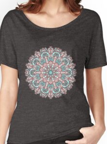 mandala#31 on pink background Women's Relaxed Fit T-Shirt
