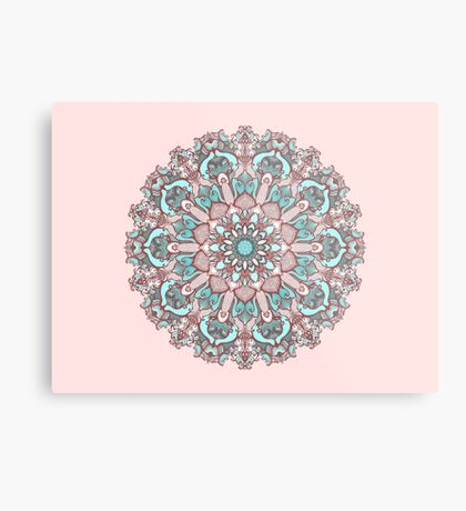 mandala#31 on pink background Metal Print