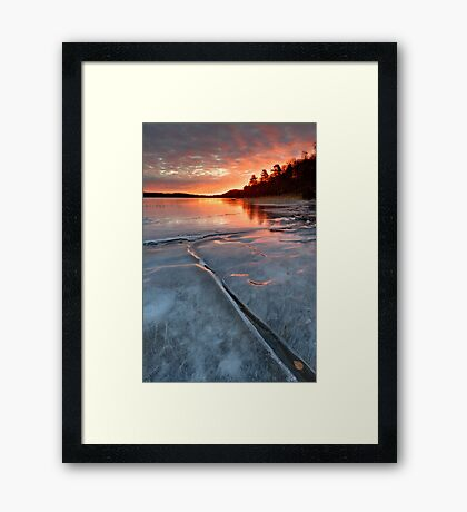 Ice crack Framed Print