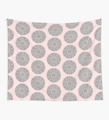 mandala#31 on pink background Wall Tapestry