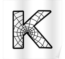 Spiderman K letter Poster