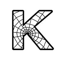 Spiderman K letter Photographic Print