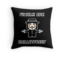 Pixels are Bulletproof Throw Pillow