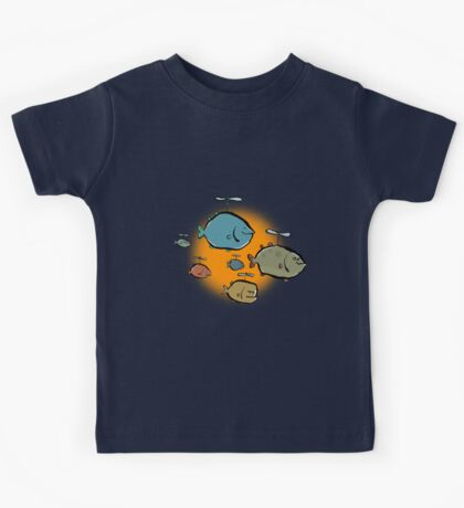 helicopter fishes are coming! Kids Tee
